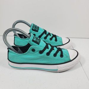 Youth Sz 1 Converse Low Top All Star Mint Green
